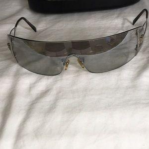 Versace sunglasses light blue/gray. Mirrored $40.